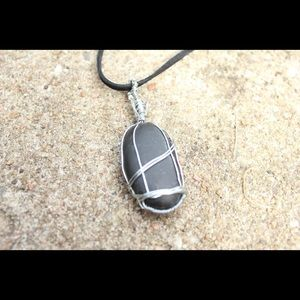 Handmade wire wrapped stone